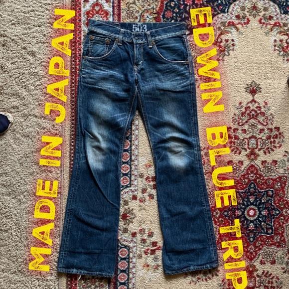 Edwin Other - 💥Rare Edwin Blue Trip Japanese denim jeans